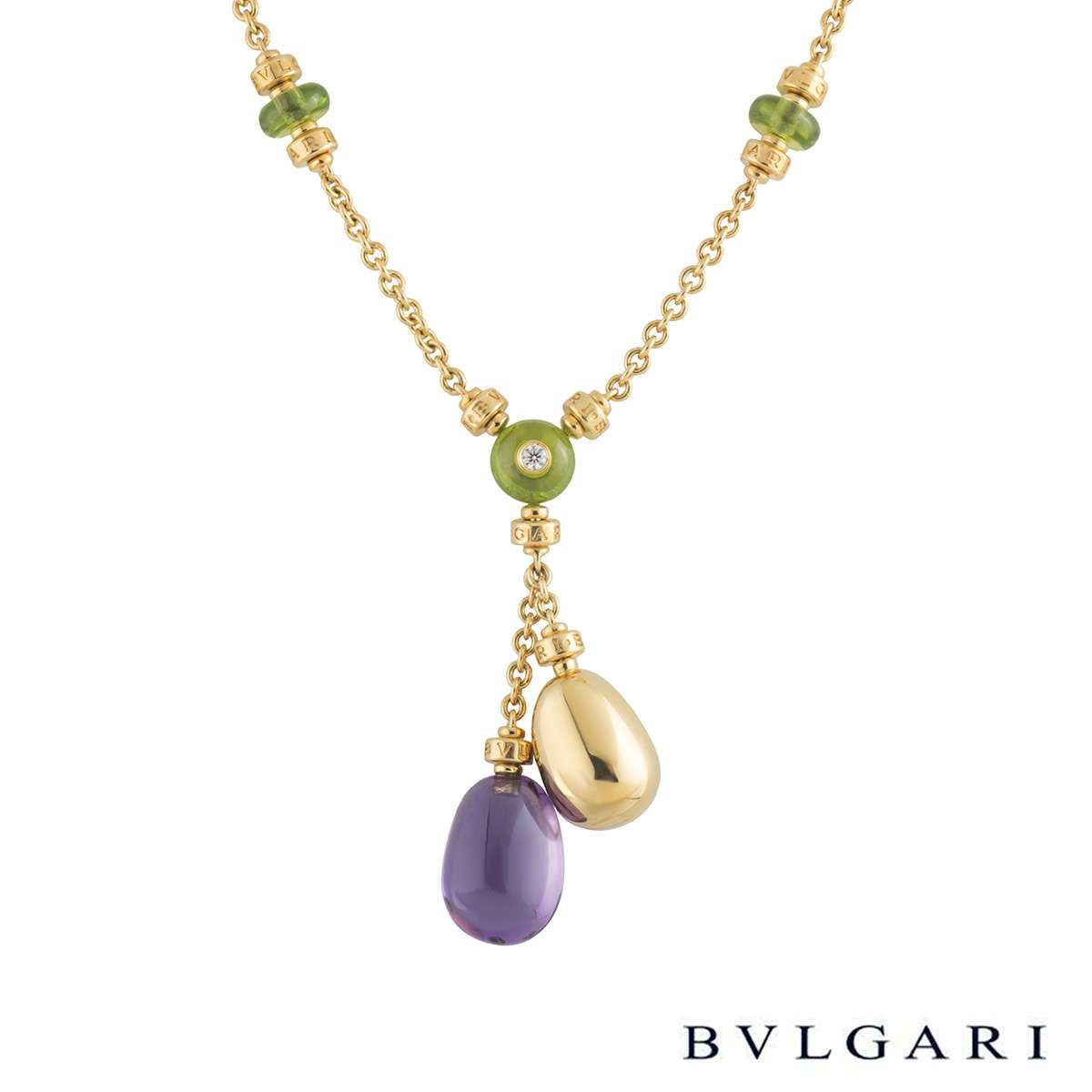 Bvlgari Yellow Gold Multi-Gemstone Mediterranean Eden Necklace